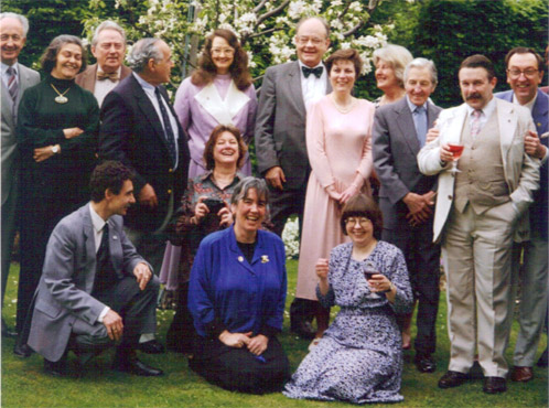 Pamela Bruxner with Sherlockian friends
